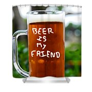 A Friendly Beer Shower Curtain