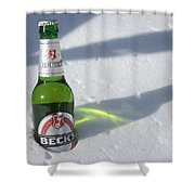 A Frosty Beck's Shower Curtain