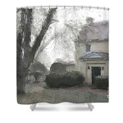 A Frosty Foggy Morning At The Manor House Shower Curtain