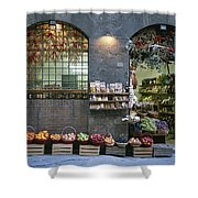 A Fruit And Vegetable Shop In Siena Shower Curtain