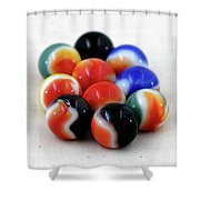 A Fun Game Of Marbles Shower Curtain