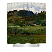 A Funeral Day In Jolster Shower Curtain
