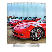 A Gaggle Of Vettes Shower Curtain