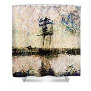 A Gallant Ship Shower Curtain