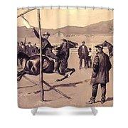 A Gander Pull 1894 Shower Curtain