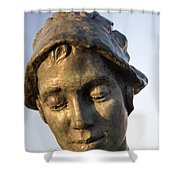 A Gansey Girl Portrait Shower Curtain