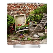 A Garden Corner Shower Curtain
