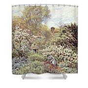 A Garden In Spring Shower Curtain
