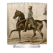 A Gentleman On Horseback With A Subsidiary Study Of The Horse's Head Shower Curtain