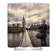 A Ghostly Figure Shower Curtain