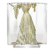 A Gibson Girl, 1903 Shower Curtain