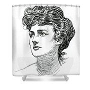 A Gibson Girl By Charles Dana Gibson Shower Curtain