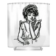 A Gibson Girl Posing Shower Curtain