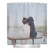Bathing Beauties By Bruno Piglhein Shower Curtain
