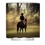 A Girl And Her Horse Shower Curtain