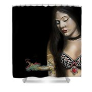 A Girl With A Dragon Tattoo Shower Curtain