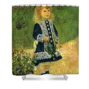 A Girl With A Watering Can 1876 Shower Curtain