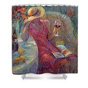 A Glass Of Red Shower Curtain