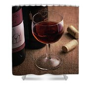A Glass Of Wine Shower Curtain