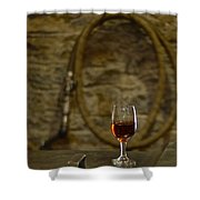 A Glass Of Woodford Shower Curtain