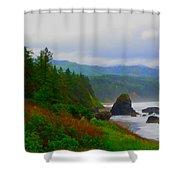 A Glimpse Of Oregon Shower Curtain