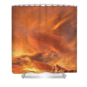 A Glorious Evening Sky Shower Curtain