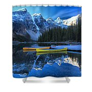 A Glorious Morning Shower Curtain