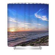 A Glorious Sunset At North Ponto, Carlsbad State Beach Shower Curtain