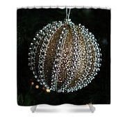 A Gold Orb- Horizontal Shower Curtain