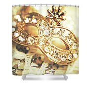 A Golden Occasion Shower Curtain