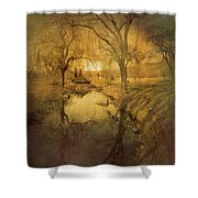 A Golden Winter 2 Shower Curtain