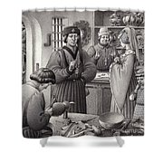 A Goldsmith's Shop In 15th Century Italy Shower Curtain