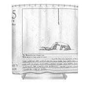 A Gorey Year Shower Curtain