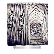 A Gothic Church Shower Curtain