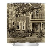 A Grand Victorian 3 - Sepia Shower Curtain