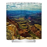 A Grand View Shower Curtain