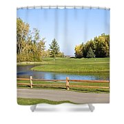 A Great Day For Golf Shower Curtain