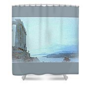 A Greek Temple Shower Curtain
