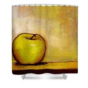 A Green Apple Shower Curtain