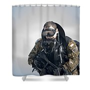 A Green Beret Emerges Onto Okaloosa Shower Curtain