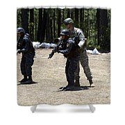 A Green Beret Instructs Tigres Trainees Shower Curtain