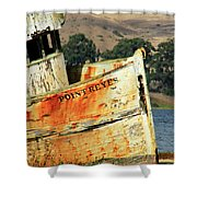 A-ground At Point Reyes Shower Curtain