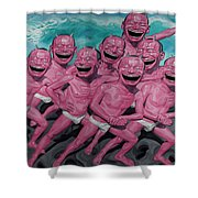 A Group Of People Laugh Shower Curtain