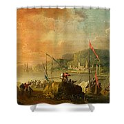 A Harbour View Shower Curtain