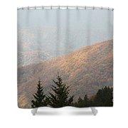 A Hazy Autumn Day Shower Curtain