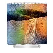 A Healing Hand Shower Curtain