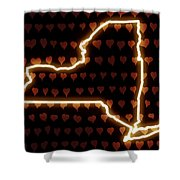 A Heart In New York Shower Curtain