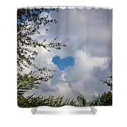A Heart In The Sky Shower Curtain