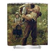 A Heavy Burden Shower Curtain by Arthur Hacker