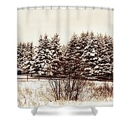 A Herd Of Trees Shower Curtain